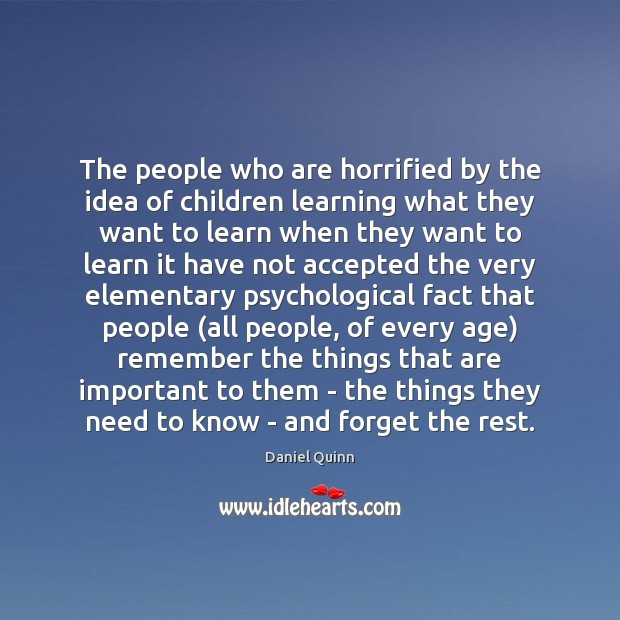 The people who are horrified by the idea of children learning what Image