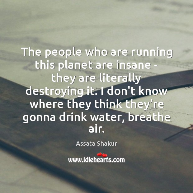 The people who are running this planet are insane – they are Image