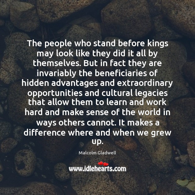 Image, The people who stand before kings may look like they did it