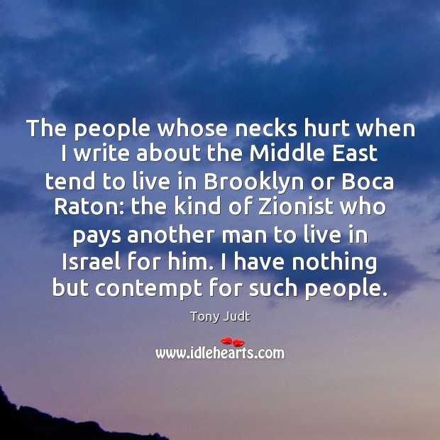 The people whose necks hurt when I write about the Middle East Image