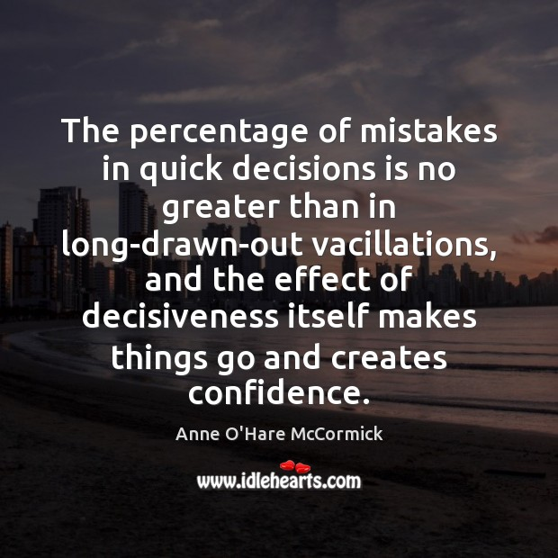 Image, The percentage of mistakes in quick decisions is no greater than in
