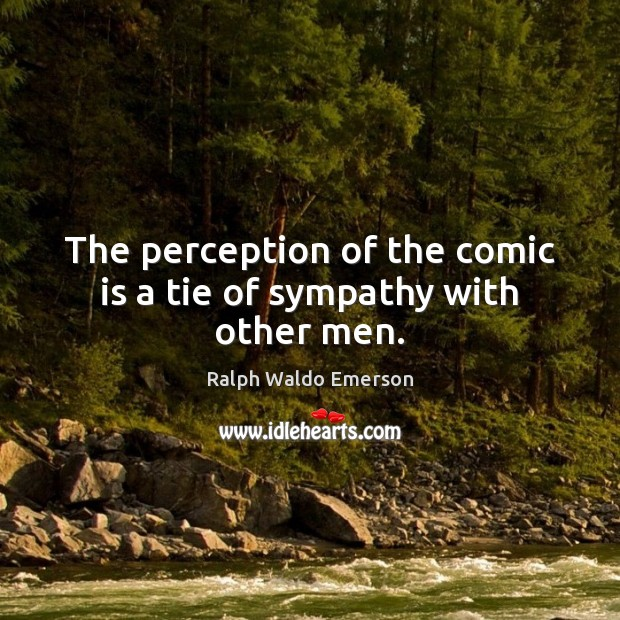 Image, The perception of the comic is a tie of sympathy with other men.