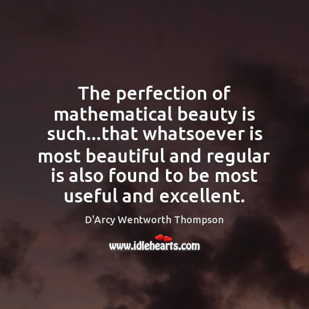 The perfection of mathematical beauty is such…that whatsoever is most beautiful Beauty Quotes Image