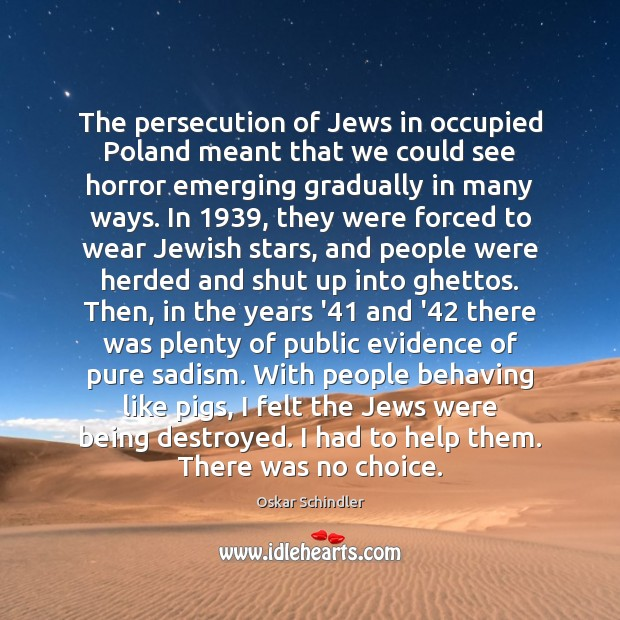 Image, The persecution of Jews in occupied Poland meant that we could see