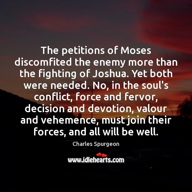 Image, The petitions of Moses discomfited the enemy more than the fighting of