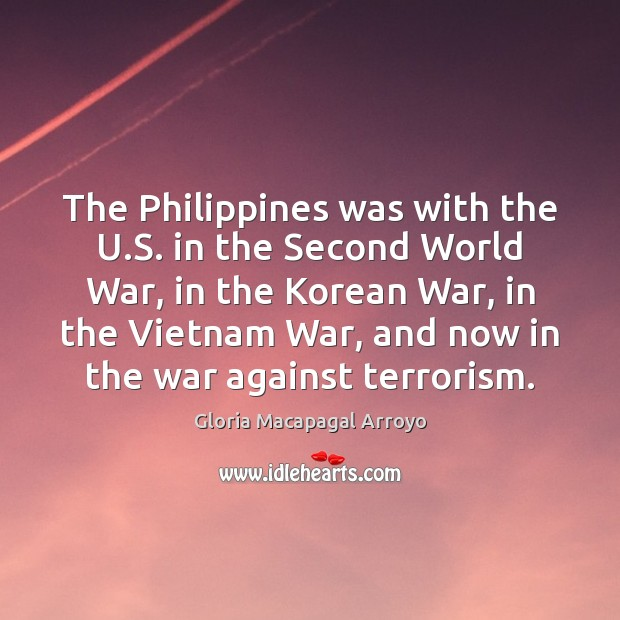 The Philippines was with the U.S. in the Second World War, Image