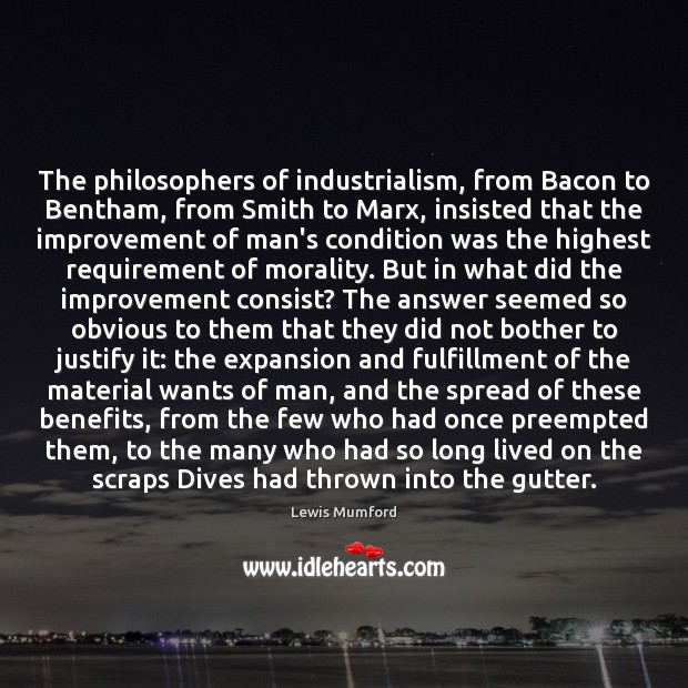 The philosophers of industrialism, from Bacon to Bentham, from Smith to Marx, Image