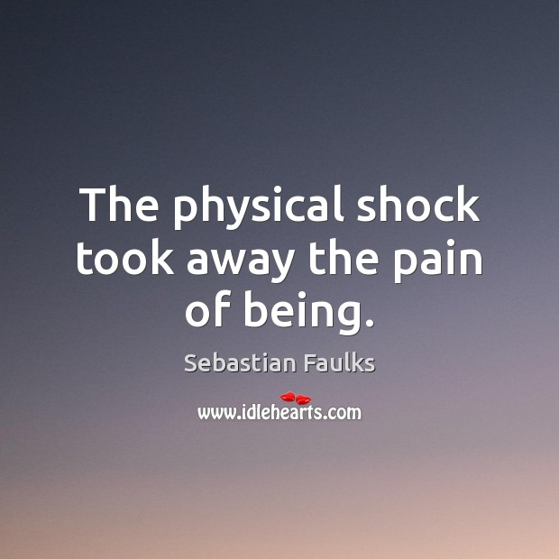Image, The physical shock took away the pain of being.