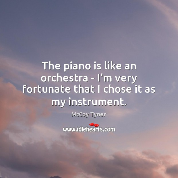 The piano is like an orchestra – I'm very fortunate that I chose it as my instrument. Image