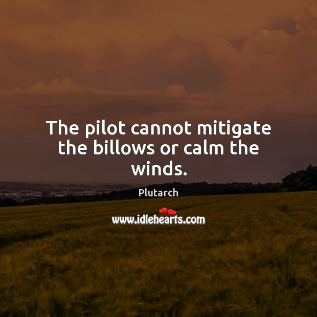 The pilot cannot mitigate the billows or calm the winds. Image