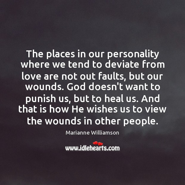 The places in our personality where we tend to deviate from love Image