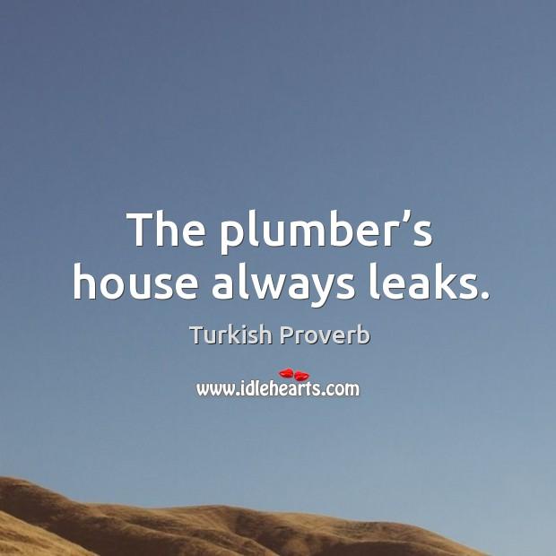 Image, The plumber's house always leaks.
