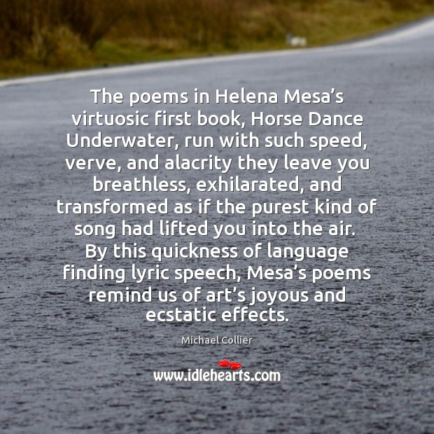 Image, The poems in Helena Mesa's virtuosic first book, Horse Dance Underwater,