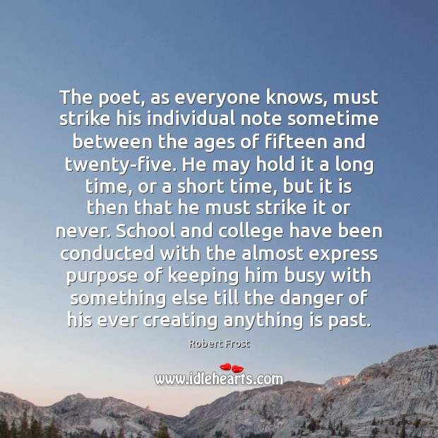 Image, The poet, as everyone knows, must strike his individual note sometime between
