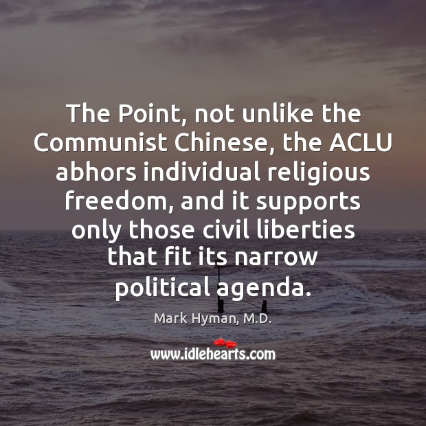 Image, The Point, not unlike the Communist Chinese, the ACLU abhors individual religious