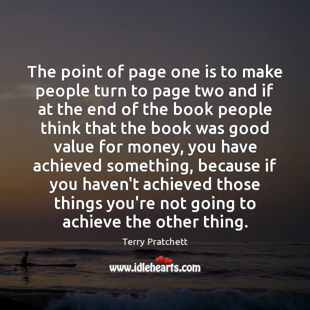 The point of page one is to make people turn to page Image