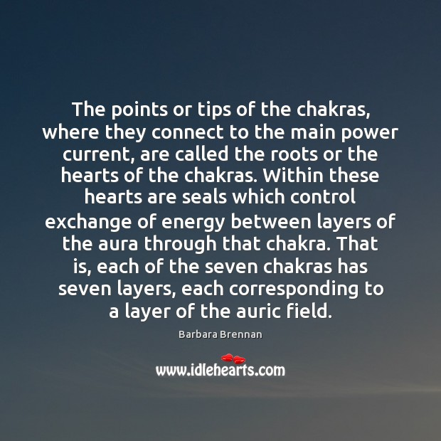 Image, The points or tips of the chakras, where they connect to the
