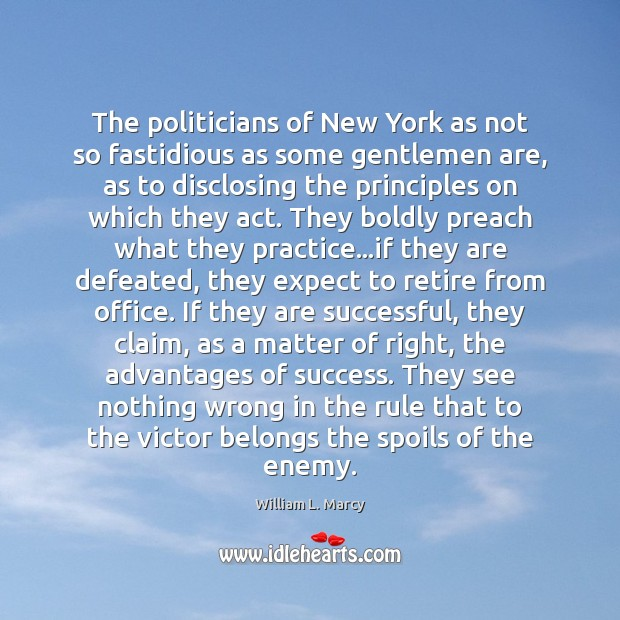 The politicians of New York as not so fastidious as some gentlemen Image