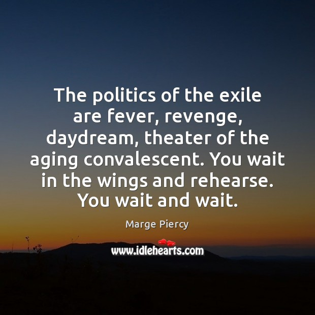 The politics of the exile are fever, revenge, daydream, theater of the Politics Quotes Image