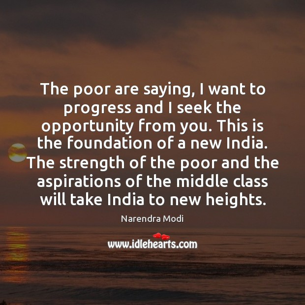 The poor are saying, I want to progress and I seek the opportunity from you. Image