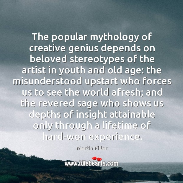 Image, The popular mythology of creative genius depends on beloved stereotypes of the