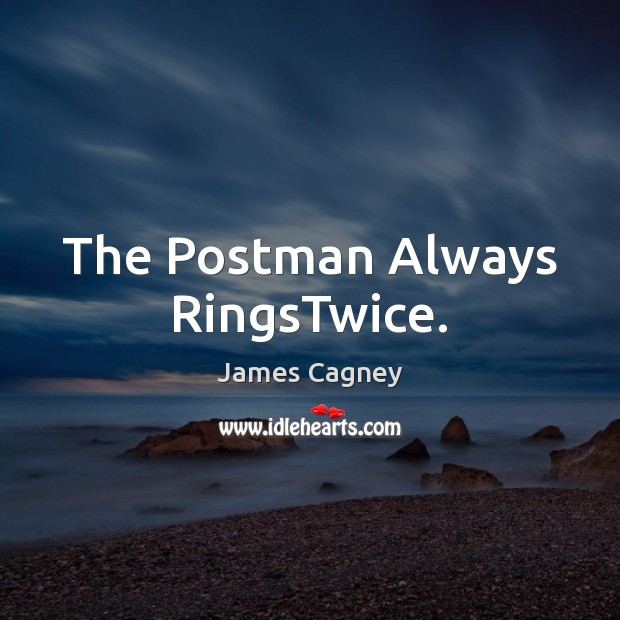 The Postman Always RingsTwice. Image