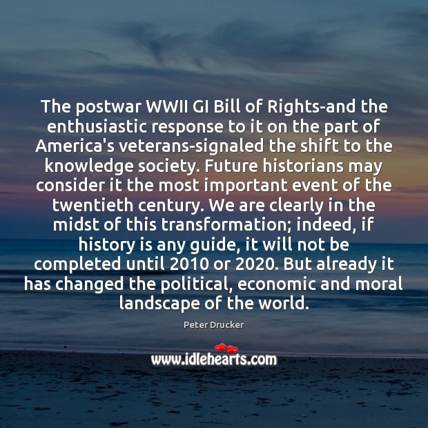 Image, The postwar WWII GI Bill of Rights-and the enthusiastic response to it