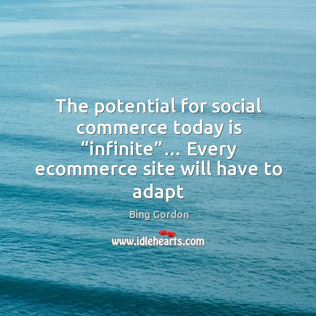 "Image, The potential for social commerce today is ""infinite""… Every ecommerce site"