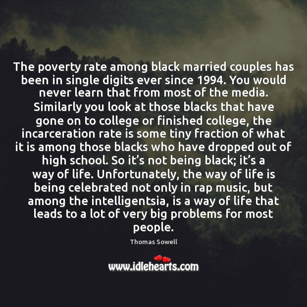 The poverty rate among black married couples has been in single digits Image