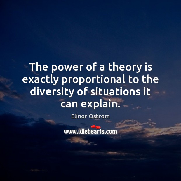 Image, The power of a theory is exactly proportional to the diversity of