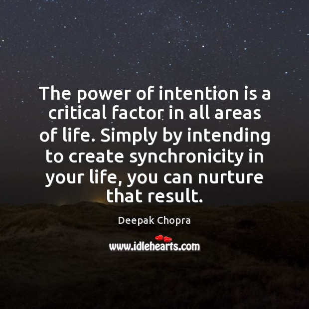 Image, The power of intention is a critical factor in all areas of