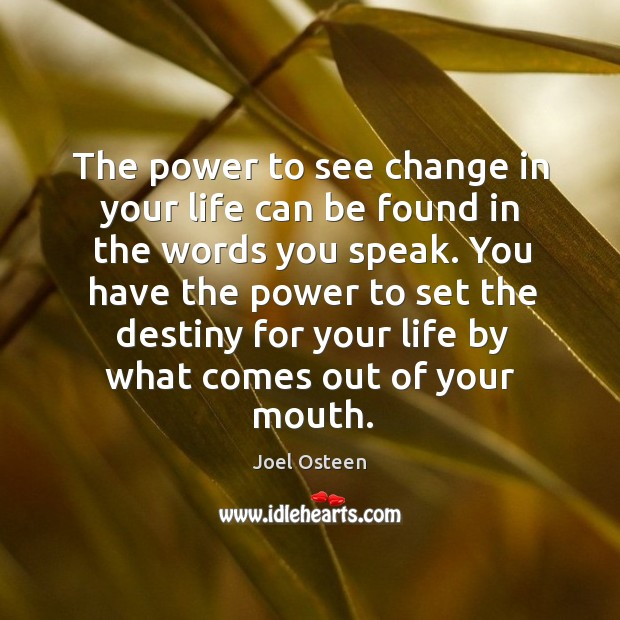 Image, The power to see change in your life can be found in