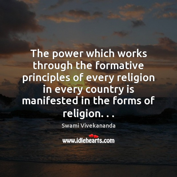 The power which works through the formative principles of every religion in Image