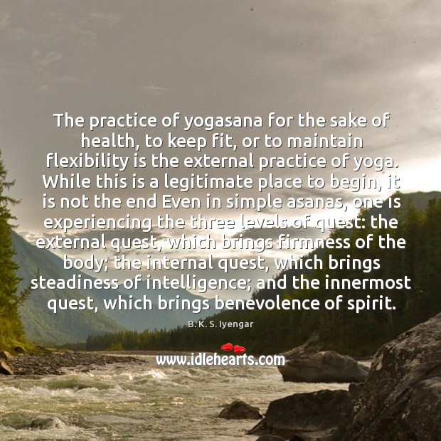 The practice of yogasana for the sake of health, to keep fit, Image