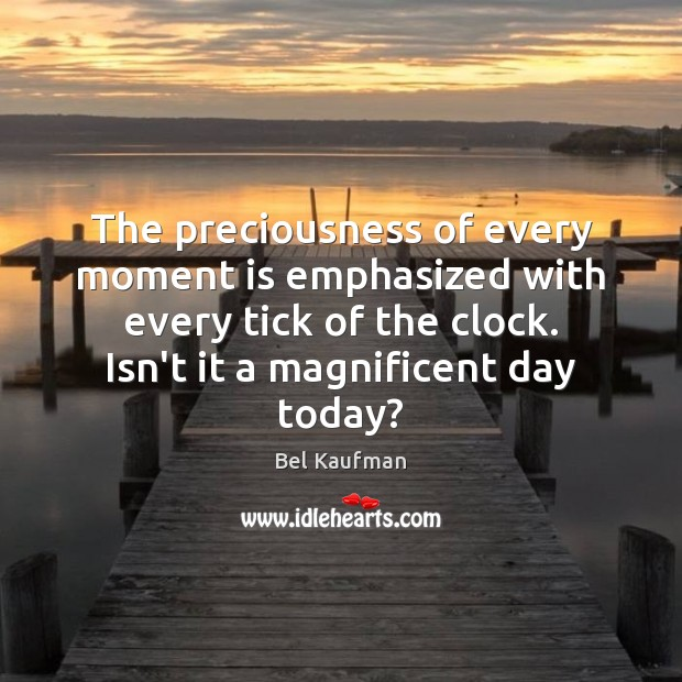 The preciousness of every moment is emphasized with every tick of the Image