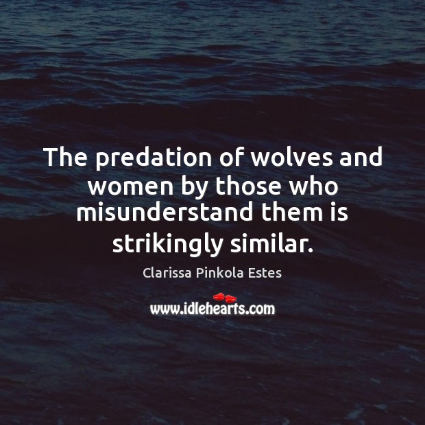 Image, The predation of wolves and women by those who misunderstand them is strikingly similar.