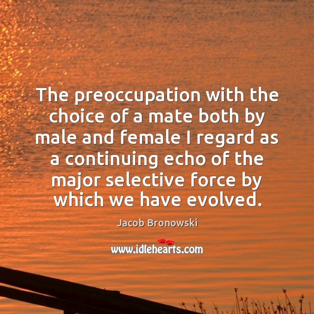 Image, The preoccupation with the choice of a mate both by male and
