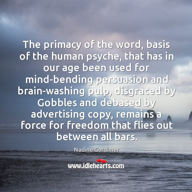 The primacy of the word, basis of the human psyche Image