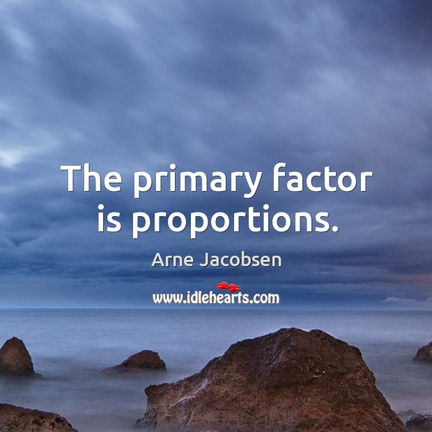 The primary factor is proportions. Image