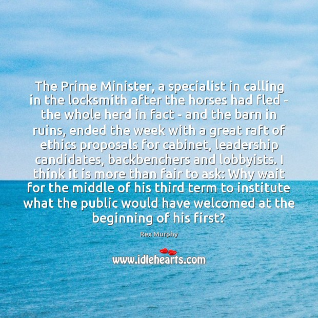 Image, The Prime Minister, a specialist in calling in the locksmith after the