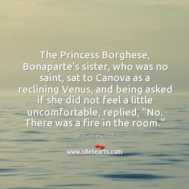 The Princess Borghese, Bonaparte's sister, who was no saint, sat to Canova Image