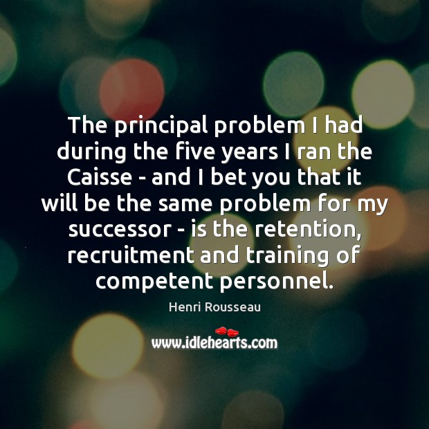 The principal problem I had during the five years I ran the Image