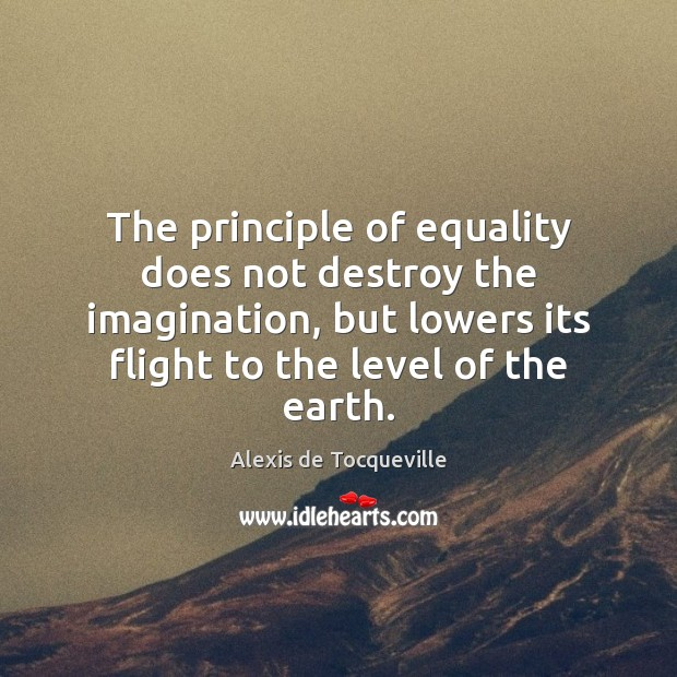 Image, The principle of equality does not destroy the imagination, but lowers its