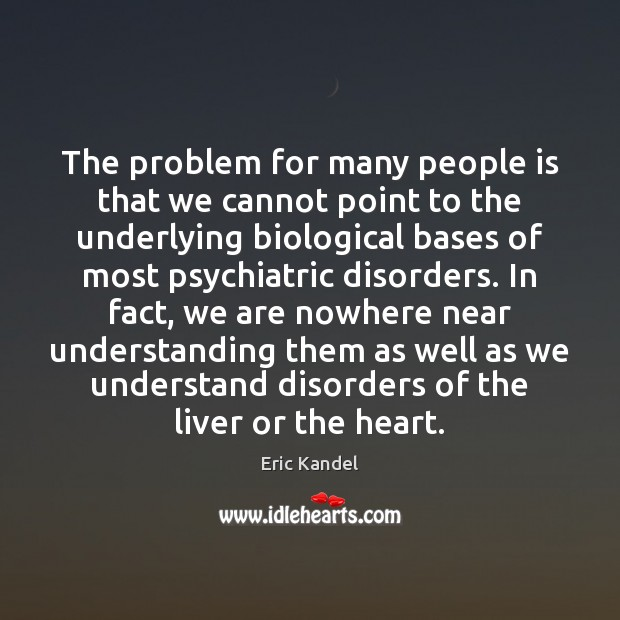 The problem for many people is that we cannot point to the Image