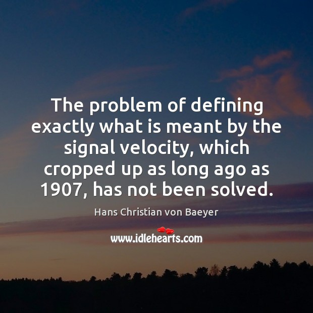 The problem of defining exactly what is meant by the signal velocity, Image