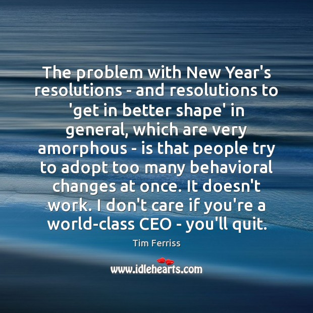Image, The problem with New Year's resolutions – and resolutions to 'get in