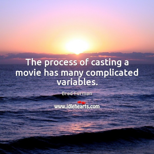 Image, The process of casting a movie has many complicated variables.