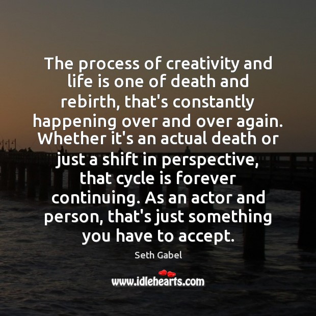 The process of creativity and life is one of death and rebirth, Image