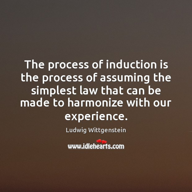 The process of induction is the process of assuming the simplest law Image