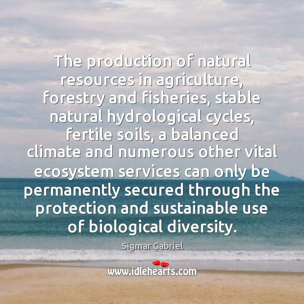 The production of natural resources in agriculture, forestry and fisheries, stable natural Image